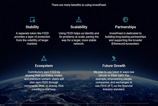investfeed social market advantages