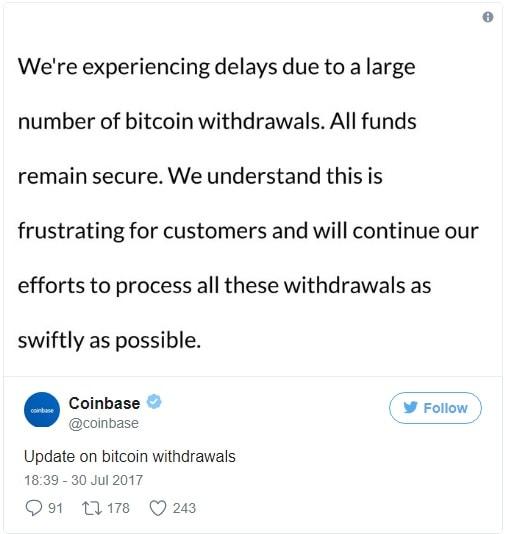 Na véspera do Fork, Coinbase tem movimentação de 400.000 BTC. BTCSoul.com