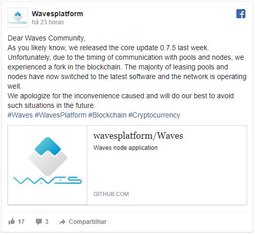 Cryptopia suspendeu a adição de novos tokens baseados em Waves por causa do hard fork.BTCSoul.com