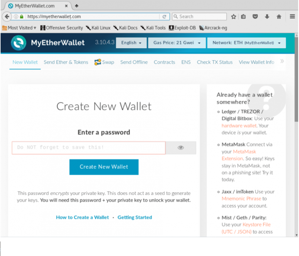 Usuários da Myetherwallet perdem mais de US$ 15,8 mil em site falso. BTCSoul.com