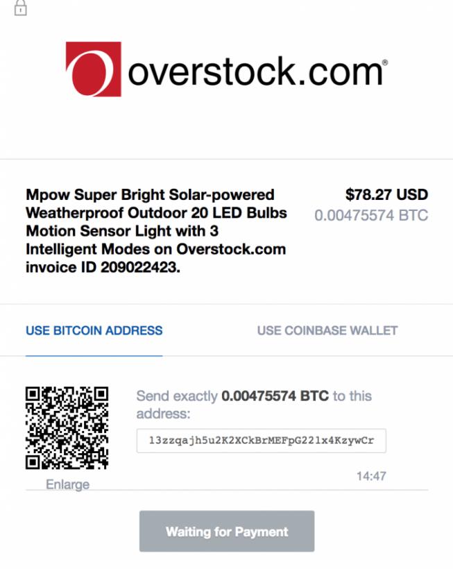 Overstock corrige erro referente a pagamentos em BCH ao invés de BTC. BTCSoul.com