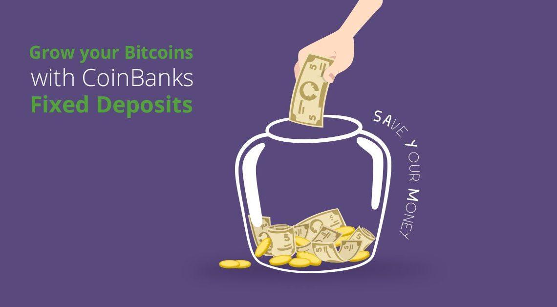A Coinbank está oferecendo dois tipos de 'depósitos fixos. Investindo em um plano de seis meses, pagará uma taxa de juro de 1,25% ao mês.