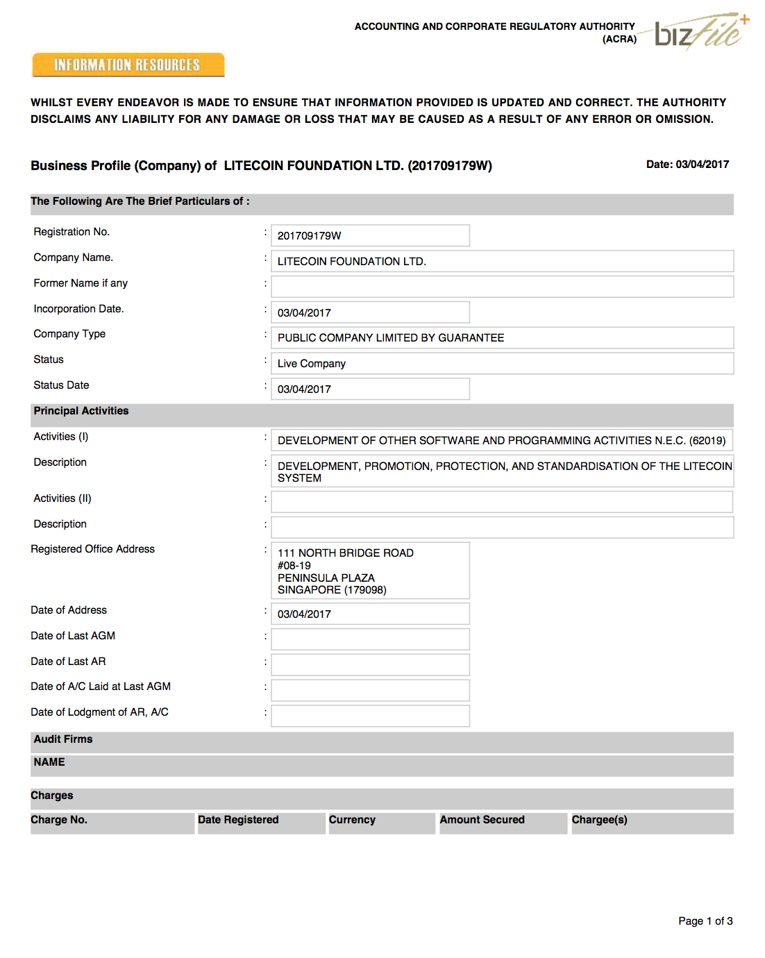 registro do litecoin