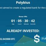 O Banco Polybius atraiu mais de US$ 21 milhões em ICO