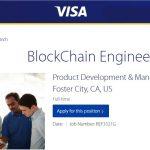 Visa abre vaga para desenvolvedor de blockchain