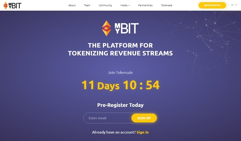mybit historia crowdsale myb