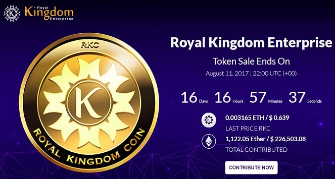 royal kingdom enterprise ico rkc