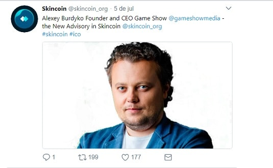 skincoin anuncia alexey