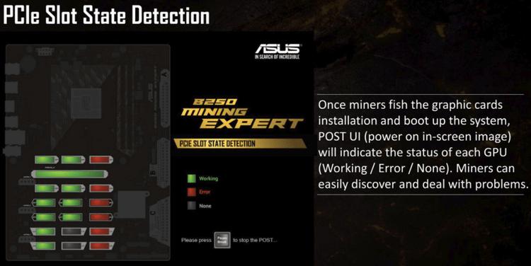 A ASUS anuncia placa mãe para mineração com 19 slots para placas de vídeo. BTCsoul.com
