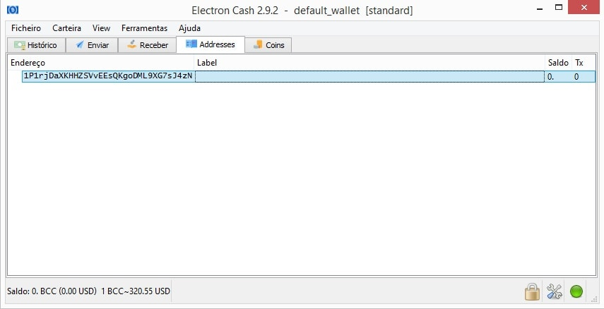 bcc wallet import private key address