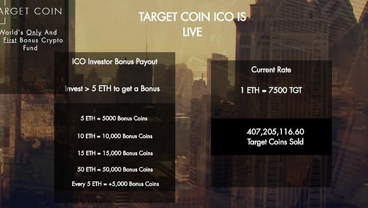 target coin bonus investment
