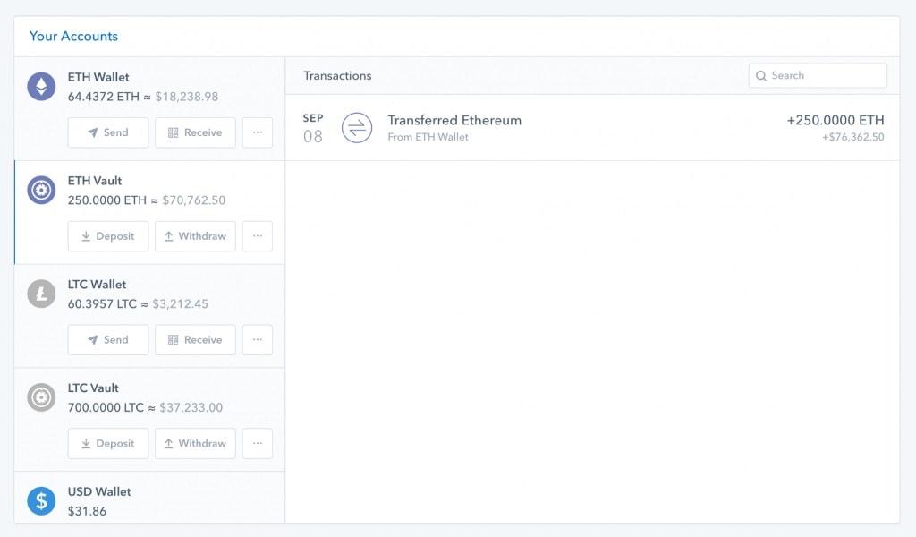 Coinbase agora armazena Ethereum e Litecoin. BTCSoul.com