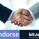 Indorse, rede social descentralizada, firma parceria com bitJob