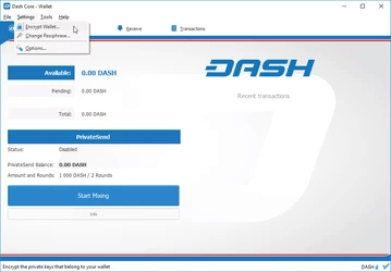 Dash Core Wallet para Windows. BTCSoul.com