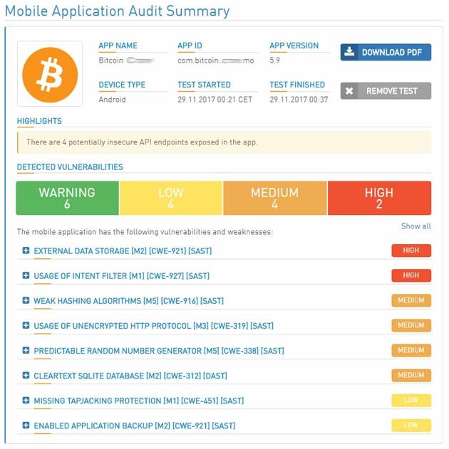 Pesquisa: 90% dos aplicativos de criptomoedas enfrentam, problemas de segurança. BTCSoul.com