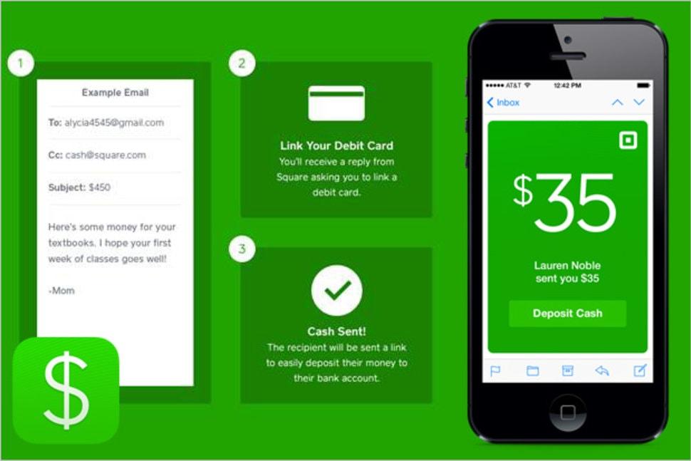 A versão beta do suporte ao Bitcoin foi adicionada ao popular aplicativo App Cash da empresa Square Cash. Ela permite que os usuários enviem dinheiro uns aos outros por e-mail sem comissões.