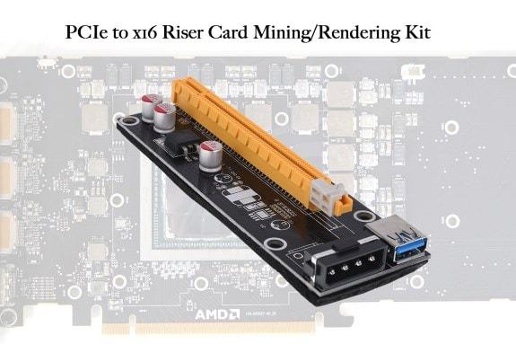 A empresa Aquatuning lançou um extensor Phobya PCIe x1 a x16, destinado aos mineradores de Ethereum. O dispositivo permite que você conecte várias placas de vídeo e monte uma farm de mineração com uma placa-mãe normal, usando slots PCIe de uma única linha para isso.