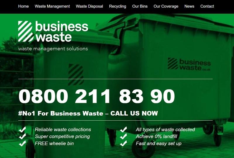 Especializada na reciclagem de lixo, a Business Waste LTD foi a primeira empresa comercial no Reino Unido a aceitar criptomoedas por seus serviços.