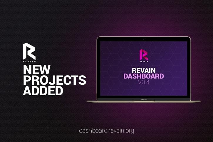 A companhia acabou de lançar a versão 0.4 de seu flagship Dashboard service. Após várias interações que visavam testar algumas das funções do núcleo, a Revain finalmente lançou 15 projetos na plataforma.