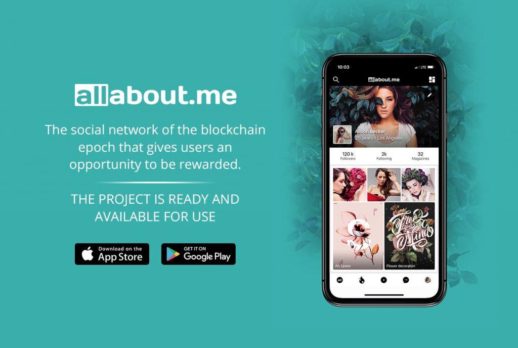 O mundo está mudando; e rápido. Allabout.me é uma rede social de nova geração baseada nos princípios da justiça e transparência entre a rede e seu usuário. Ela combina os benefícios das moedas digitais do futuro – tais como Bitcoin – e a tecnologia de Blockchain para oferecer a oportunidade de receber recompensas pela utilização de seus serviços.
