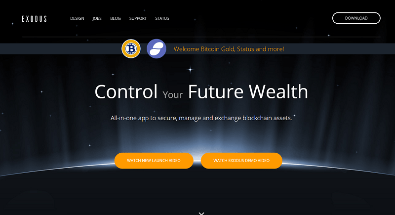 Desenvolvedores de criptomoedas da Exodus anunciaram que, com a versão atualizada 1.43.1, o programa começou a suportar 11 novos recursos digitais – entre eles, Bitcoin Gold, Bancor, WeTrust e Wings.