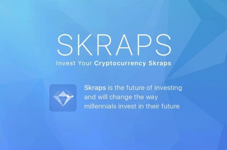 Skraps é uma plataforma de micro-investimentos que permite que acionistas invistam ao executar transações em criptomoedas.