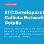 Anúncio de Airdrop Callisto (CLO) leva a aumento de preço e estabilidade no Ethereum Classic (ETC)
