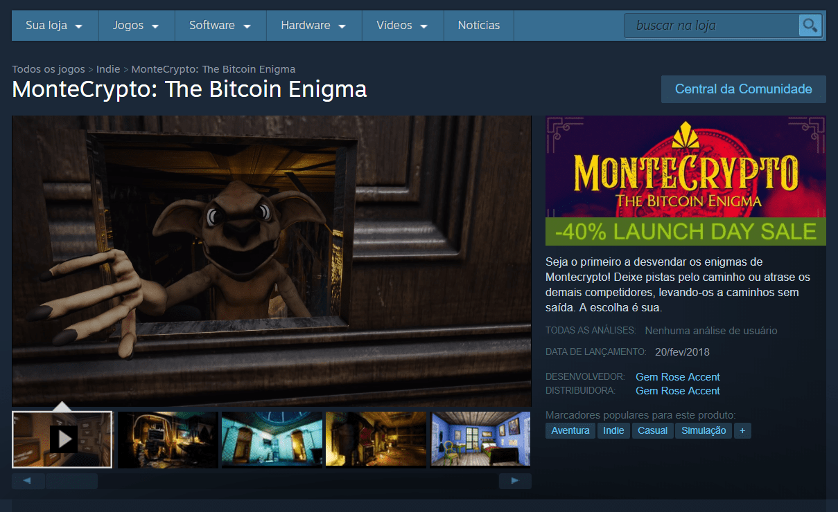 Os desenvolvedores do novo quebra-cabeça no Steam oferecem uma recompensa em Bitcoin para o primeiro que passar a missão.