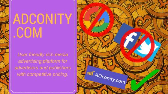 Compartilhando seu amor com o BTC, ADconity.com é o substituto para os já estabelecidos ecossistemas publicitários que estão impedindo ICOs e startups baseadas no Bitcoin em 2018.