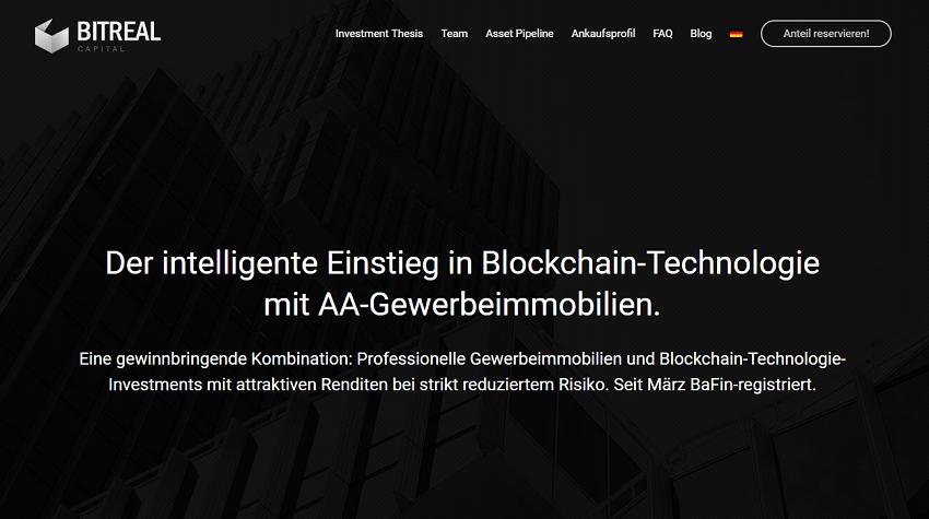 A BITREAL Capital GmbH, com sede em Munique, foi oficialmente registrada pela Autoridade Federal de Supervisão Financeira da Alemanha (BaFin) como um fundo de investimento híbrido usando criptomoedas e imóveis como principais instrumentos.