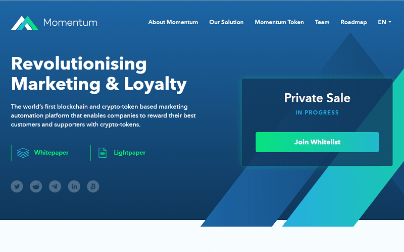 A startup Momentum chegou para estreitar os laços entre o cliente e a empresa. Existe melhor forma que recompensar os usuários com tokens em troca de informações sobre os dados, gostos, dicas e muito mais?
