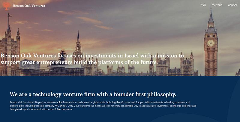 A Benson Oak Ventures, uma divisão de risco do banco tcheco Benson Oak, investirá US$100 milhões em startups israelenses de grande sucesso.
