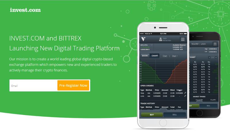 A Bittrex, corretora americana e a invest.com, empresa de trading, firmaram um acordo para lançar uma nova plataforma para os residentes da União Europeia.