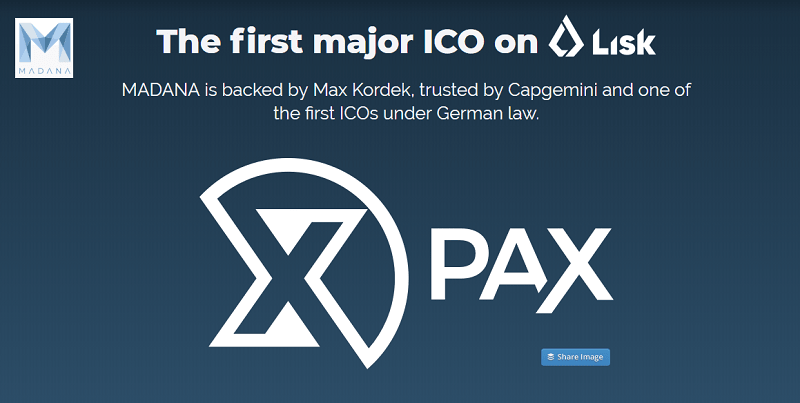 Baseada em Berlim, a startup MADANA iniciará no dia 1 de agosto o processo de whitelisting para a pré-venda de tokens PAX. A próxima campanha será a primeira grande ICO a ser realizada na base da Blockchain Lisk.