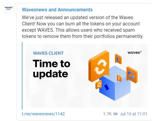 É realizado lançamento de Waves-client 0.13.3. BTCSoul.com