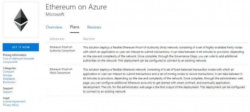Microsoft introduz Ethereum on Azure em algoritmo PoA. BTCSoul.com