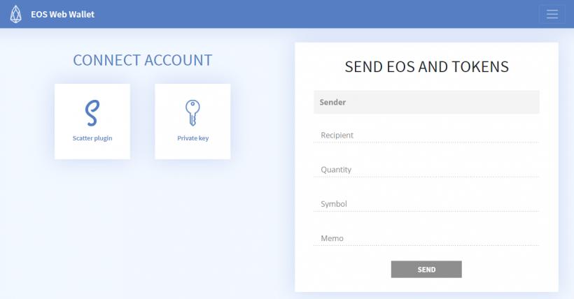 Os desenvolvedores da Blockchain do EOS apresentaram a EOSWebWallet.io, carteira disponível em versões para computadores pessoais e dispositivos móveis e que não requer instalação.