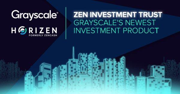 A companhia Grayscale Investments anunciou oficialmente o lançamento do ZEN Investment Trust, um fundo focado exclusivamente na criptomoeda Horizen (ZEN).