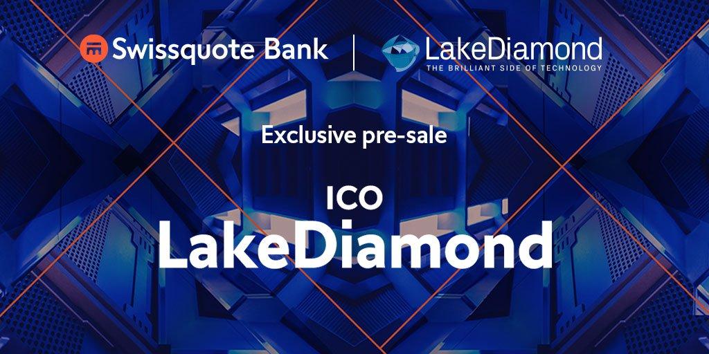 Swissquote, um banco on-line com sede na Suíça, lançou um serviço de compra de tokens de ICO. A primeira moeda aprovada pelo banco foi o token LKD, de uma empresa que fabrica diamantes em condições de laboratório, a LakeDiamond.