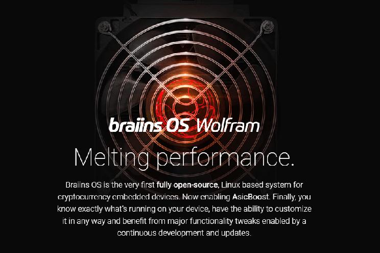 A Braiins Systems, desenvolvedora de soluções de software sediada na República Tcheca, que administra a primeiro pool de mineração da história (Slush Pool), apresentou uma versão do Braiins OS Wolfram (bOS), que conta com suporte ao algoritmo de otimização AsicBoost