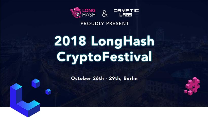 De 26 a 29 de outubro, desenvolvedores de Blockchain se reunirão no LongHash Hackathon, em Berlim, para competir por prêmios no valor total de 115 ETH.