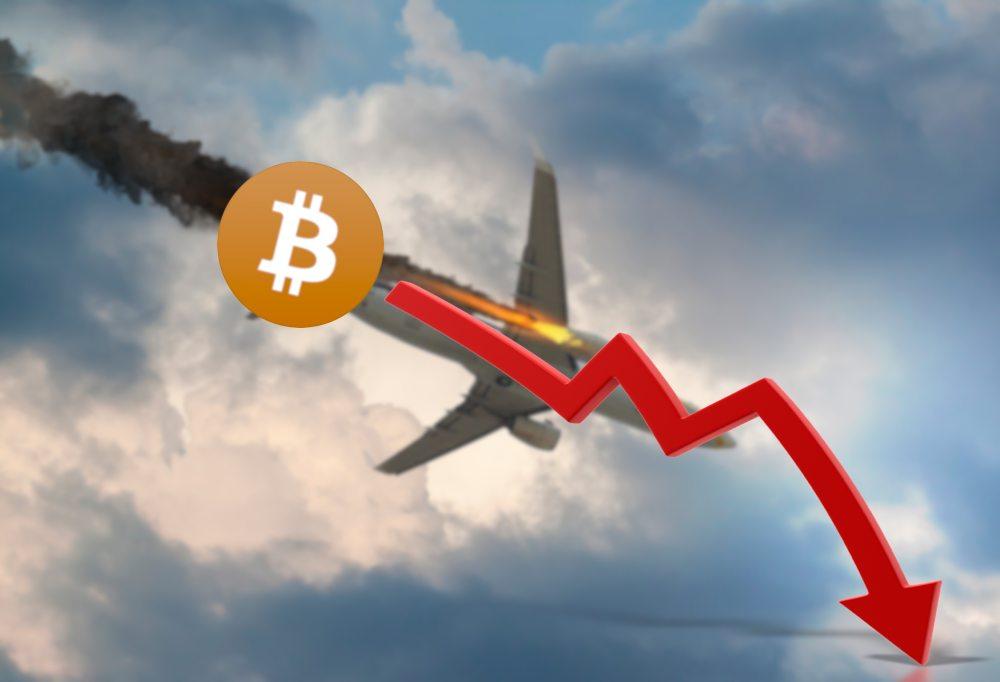 bitcoin caindo feito jaca podre