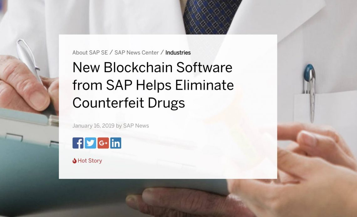 sap blockchain farmaceutica