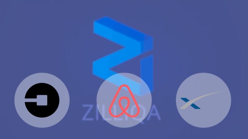 zilliqa corretora uber airbnb spacex