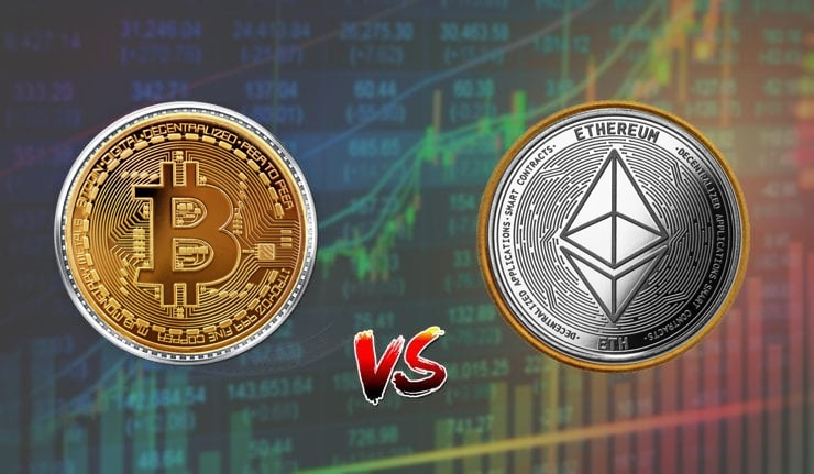 btc vs eth bitcoin ethereum preço cotação