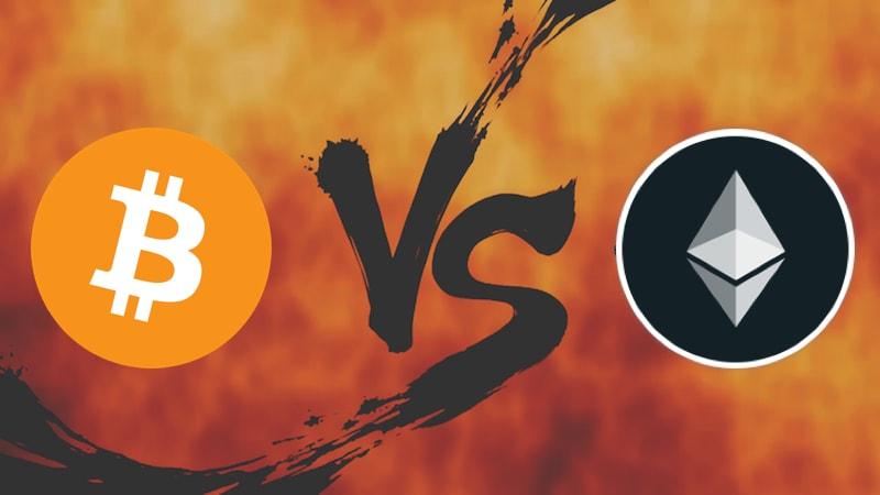 criptomoeda vs cripto ethereum eth bitcoin btc investir